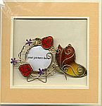 Picture Frame CARD ~ Butterfly w Roses