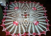 DOILY ~ Love Knot Square ~ 2/Tones