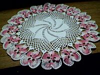 DOILY ~ Shaded Pink Pansies
