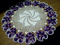 DOILY ~ Shaded Purple Pansies