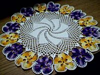 DOILY ~ Purple & Yellow Pansies