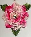 FLOWER ORNAMENT ~ Rose ~ Shaded Pinks