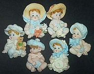 MAGNETS ~ Victorian Baby Assortment