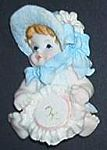 MAGNET~ Victorian Baby Girl w Embroidery
