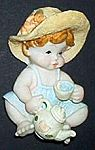 MAGNET~ Victorian Baby w Teapot