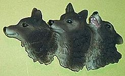 Gray Wolves MAGNET~ Pack of Three