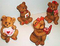 Valentine Bears w HEARTS ~ Assorted