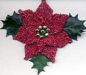 ORNAMENT ~ Poinsettia ~ MET Red/Gold
