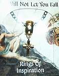RING OF INSPIRATION on CARD ~ He Will Not Let You Fall