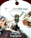 RING OF INSPIRATION on CARD ~ Jubilee 2000 w Cross