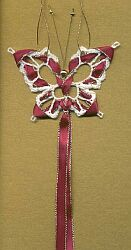 ORNAMENT ~ Butterfly Snowflake Bookmark