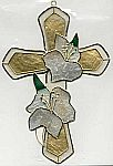 SUNCATCHER ~ Cross w Gardenias
