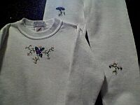 CHILDRENS ~ White Sweatsuit w Silk Embroidery