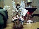 ANGEL ~ Bluebirds & Hat Basket