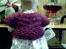 BABY CAPELET or SACQUE ~ Burgandy ~ Back