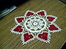 DOILY ~ SM Red Candy Hearts