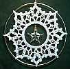 CROCHET SUNCATCHER ~ Star In Filigree Lace