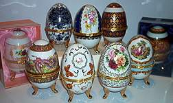 TRINKET BOXES ~ Porcelain Eggs