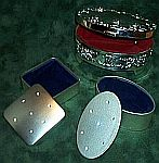 Silver TRINKET Jewelry BOXES ~ Assortment