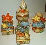 TRINKET BOXES ~ Sea Shells ~  Assortment