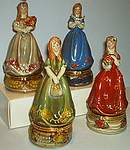 TRINKET BOXES ~ Victorian Maiden  Assortment
