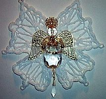 CRYSTAL FILIGREE ANGEL ~ White