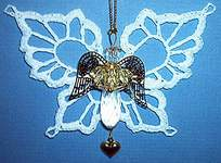 CRYSTAL  TEARDROP ANGEL ~ White