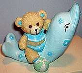 5 in BABY ~ Bear Blue on Dolphin