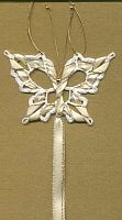 Butterfly BOOKMARK ~ Ivory