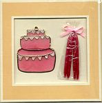 CANDLE CARD ~ Cake in Pink