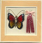 CANDLE CARD ~ Monarch Butterfly