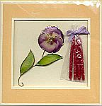 CANDLE CARD ~ Pansy