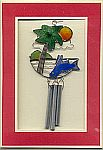 Windchime CARD ~ Flying Fish w Palms & Sun