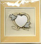 Picture Frame CARD ~ Doves w Heart