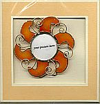 Picture Frame CARD ~ Red Autumn Sun