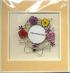 Picture Frame CARD ~ Ribbons & Roses