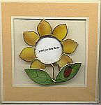 Picture Frame CARD ~ Sunflower w Lady Bug
