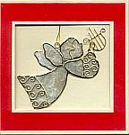 ORNAMENT CARD ~ Angel w Lyre