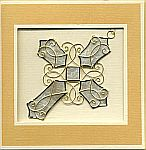 ORNAMENT CARD ~ Cross w Diamond Center