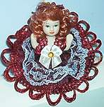 MINI Winter Formal DOLL ~ Burgandy