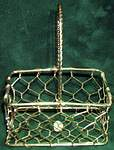 MINIATURE BASKET ~ RECTANGLE Brass Wire