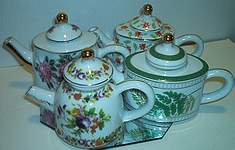 MINIATURES ~ Porcelain Teapot Assortment