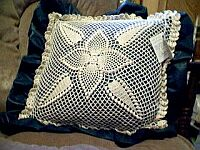 PILLOW ~ Puff Stitched Pineapple ~ Hunter