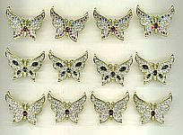 ACCESSORIES ~ Crystal Butterfly Pin Assortment