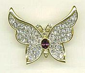 PIN ~ Crystal Butterfly w Amethyst