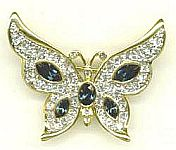 PIN ~ Crystal Butterfly w Sapphires