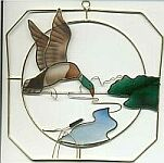SUNCATCHER ~ Flying Duck & Pond