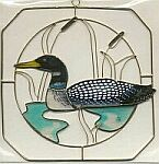 SUNCATCHER ~ Loon in Square