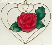 SUNCATCHER ~ Rose in Heart