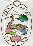 SUNCATCHER ~ Swan in Oval